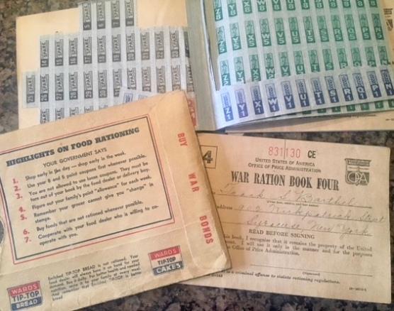 WAR RATION COUPON BOOKS
